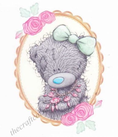 Glittering Necklace Me To You Bear Clear Rubber Stamp